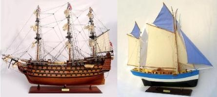 HMS Victory and Jeanne Marie